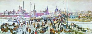 Konstantin Yuon - The Moskvoretsky Bridge