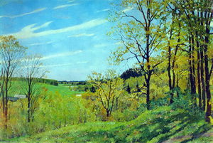 Konstantin Yuon - May Morning. Nightingale place. Ligachevo