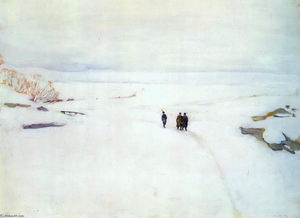 Konstantin Yuon - The Winter. Rostov The Great