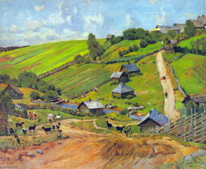 Konstantin Yuon - The Village of Novgorod Governorate