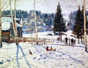 Konstantin Yuon - The End of Winter. Noon. Ligachevo
