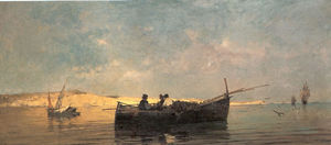 Konstantinos Volanakis - Fishing boat at dusk