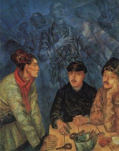 Order Reproductions | After the battle, 1923 by Kuzma Petrov-Vodkin (1878-1939, Russia) | WahooArt.com