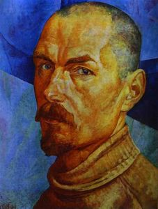 Order Museum Quality Copies | Self-portrait, 1921 by Kuzma Petrov-Vodkin (1878-1939, Russia) | WahooArt.com