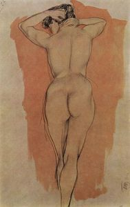 Kuzma Petrov-Vodkin - Artist-s Model from the back