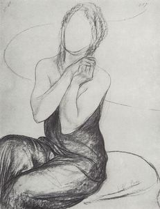 Kuzma Petrov-Vodkin - Drawing a picture of the Witch