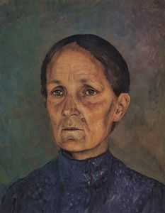 Kuzma Petrov-Vodkin - Portrait of A.P.Petrovoy-Vodkin, artist-s mother