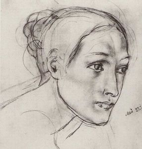 Kuzma Petrov-Vodkin - Female head