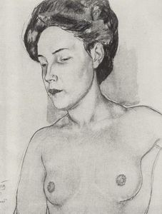 Kuzma Petrov-Vodkin - Study for painting Sleep