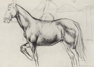 Kuzma Petrov-Vodkin - Sketch for the painting Bathing the Red Horse