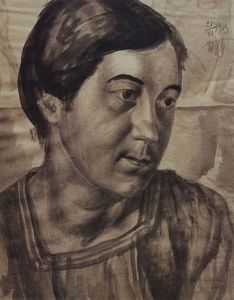 Kuzma Petrov-Vodkin - Portrait of the Artist-s Wife