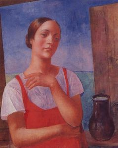 Kuzma Petrov-Vodkin - The girl in sarafan