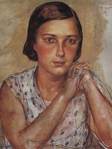 Kuzma Petrov-Vodkin - Portrait of the artist-s daughter