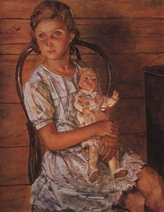Kuzma Petrov-Vodkin - Girl with a Doll