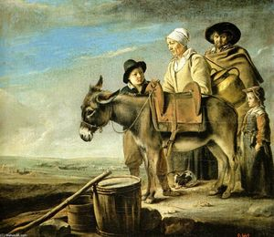 Antoine (Brother) Le Nain - Family of milk seller
