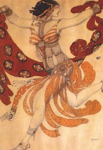 Leon Bakst - Costume design for the ballet ''Cleopatra''