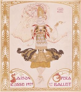 Leon Bakst - Front cover of Comoedia