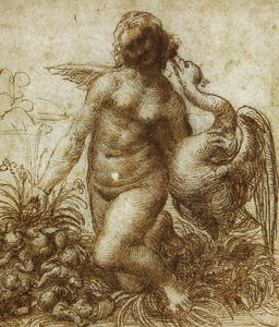 Leonardo Da Vinci - Study for the Kneeling Leda