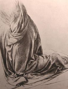 Leonardo Da Vinci - Drawing of drapery