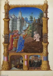 Limbourg Brothers - Job Mocked by His Friends