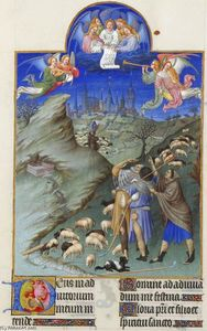 Limbourg Brothers - The Annunciation to the Shepherds