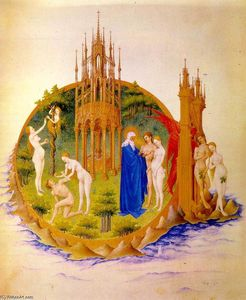 Limbourg Brothers - The Fall and the Expulsion from Paradise