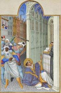 Limbourg Brothers - The Martyrdom of Saint Mark