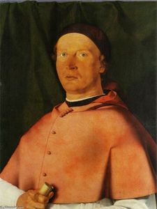 Lorenzo Lotto - Portrait of Bishop Bernardo de- Rossi