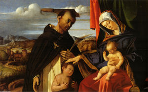 Lorenzo Lotto - Madonna and Child with Saint Peter Martyr