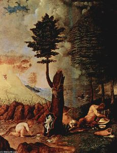 Lorenzo Lotto - Allegory (Allegory of prudence and wisdom)