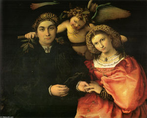 Lorenzo Lotto - Signor Marsilio Cassotti and his Wife, Faustina