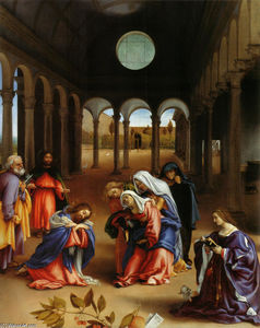 Lorenzo Lotto - Christ-s farewell to Mary