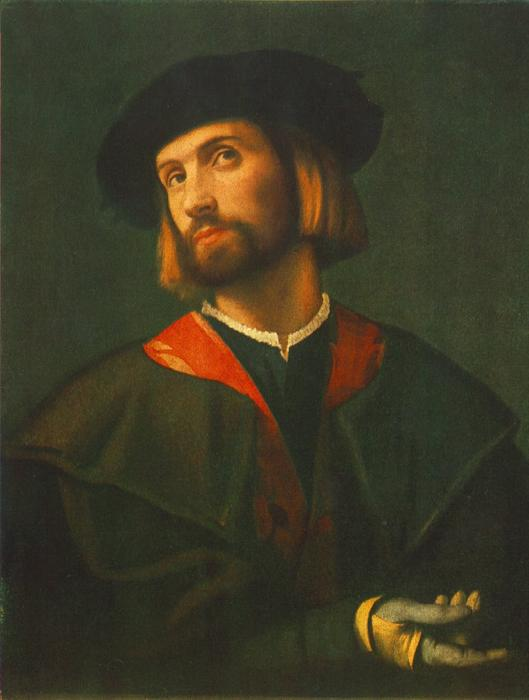 Portrait of a man by Lorenzo Lotto (1480-1557, Italy)