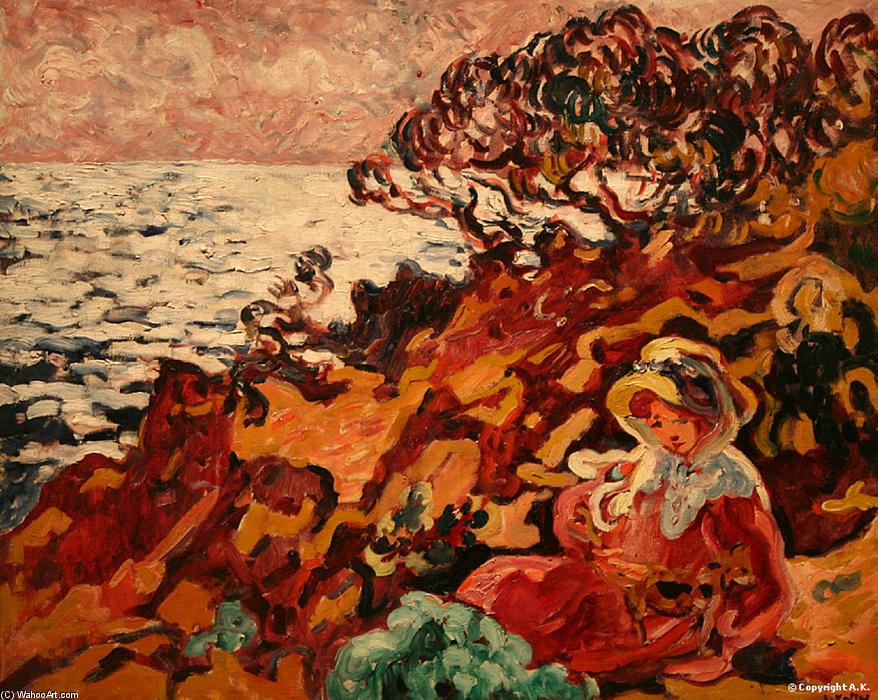 Woman at the Seaside by Louis Valtat (1869-1952, France) |  | WahooArt.com
