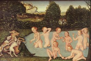 Lucas Cranach The Elder - Diana and Actaeon