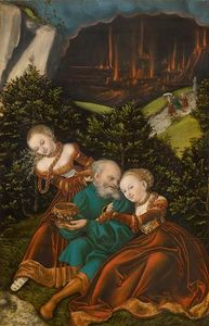 Lucas Cranach The Elder - Lot and his daughters