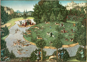Lucas Cranach The Elder - Stag Hunt of Elector Friedrich III the Wise