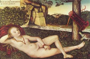 Lucas Cranach The Elder - Reclining Diana