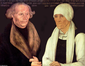 Lucas Cranach The Elder - Hans and Magrethe Luther
