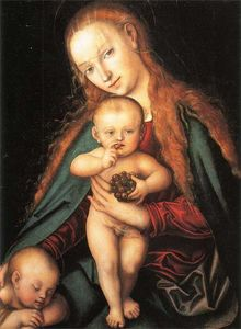 Lucas Cranach The Elder - Madonna and Child