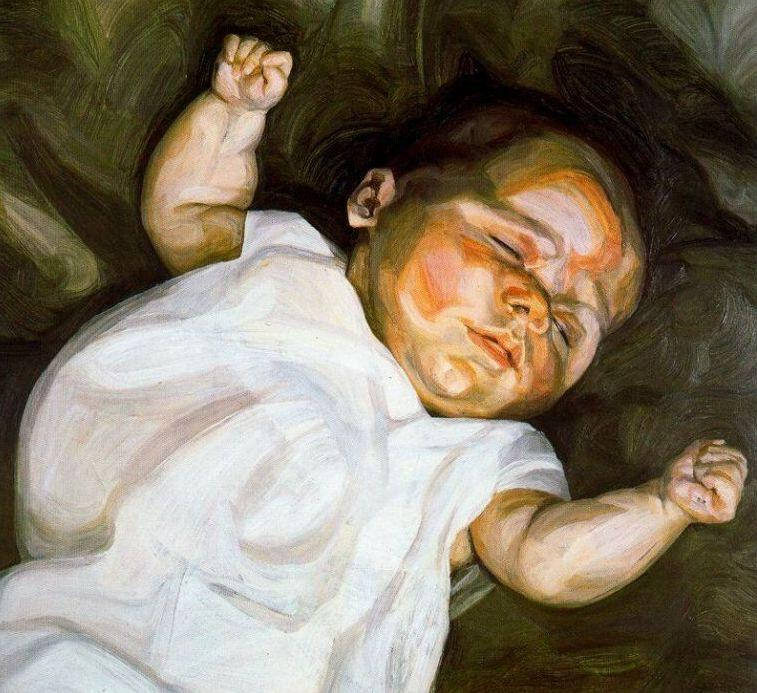 Baby on a Green Sofa, 1961 by Lucian Freud (1922-2011, Germany) |  | WahooArt.com