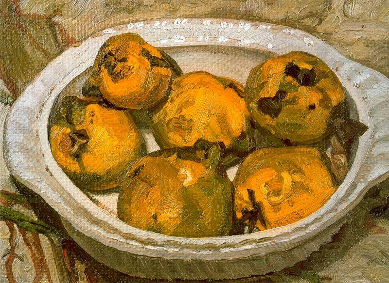 Still Life (Quinces), 1982 by Lucian Freud (1922-2011, Germany) |  | WahooArt.com