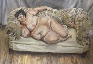 Lucian Freud - Benefits Supervisor Sleeping (also known as Big Sue)