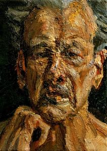 Lucian Freud - Self-Portrait, Reflection