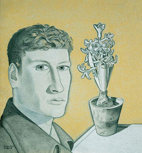 Lucian Freud - Self-Portrait with Hyacinth in a Pot