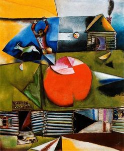 Marc Chagall - Russian Village Under the Moon