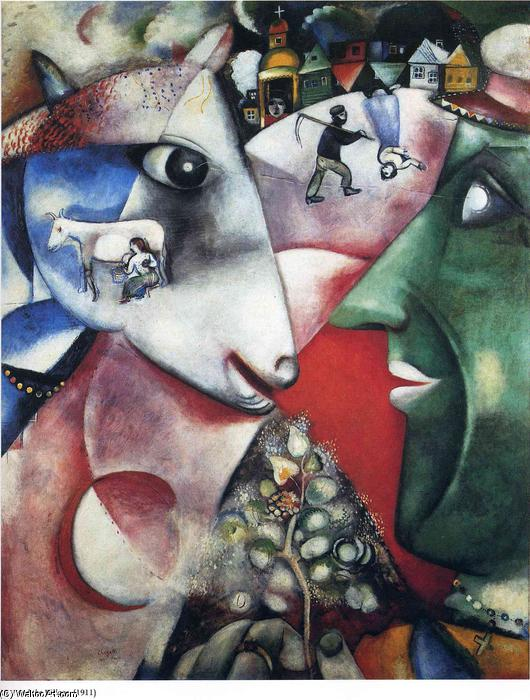 I and the Village, 1911 by Marc Chagall (1887-1985, Belarus) |  | WahooArt.com