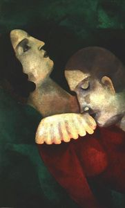 Marc Chagall - Lovers in green