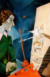 Marc Chagall - Self portrait with palette