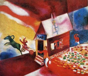 Marc Chagall - Burning House
